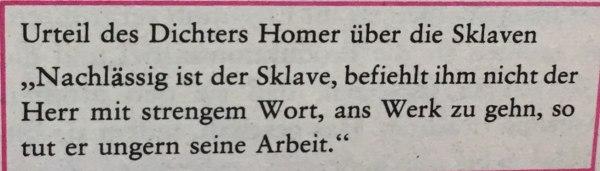 Homer über Sklaven