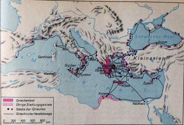 Karte Altes Griechenland