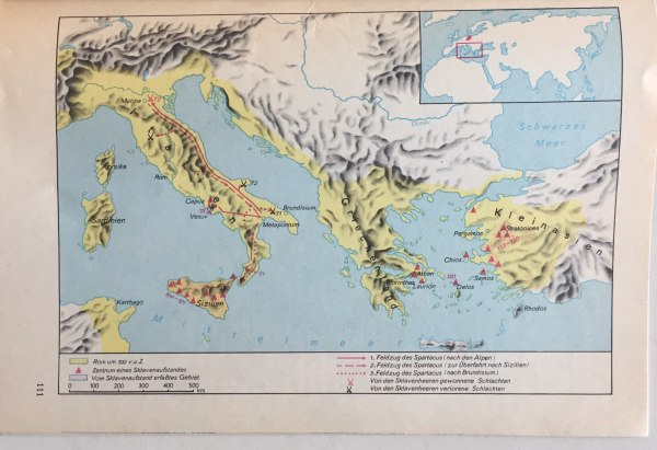 Karte Sklavenaufstände