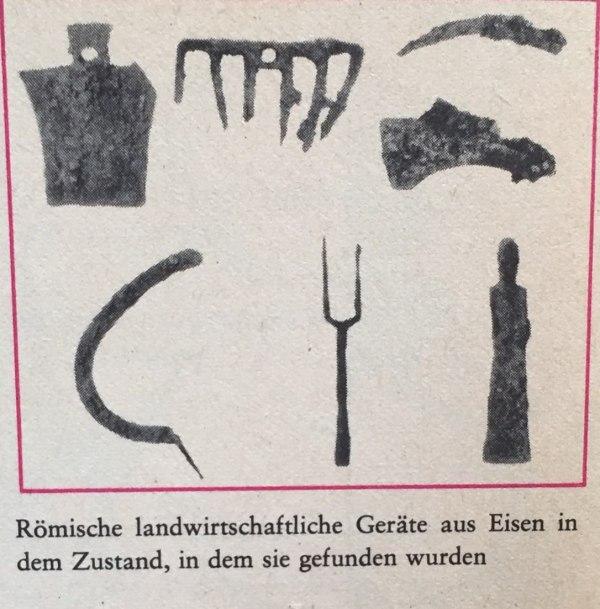 römische Landwirtschaftsgeräte
