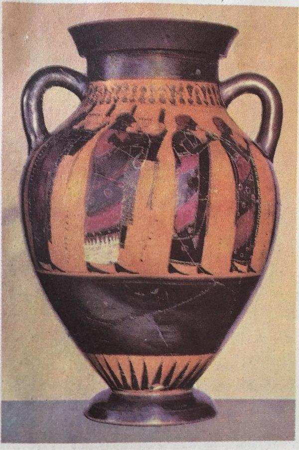Vase aus Attika 6. Jahrhundert v.u.Z.