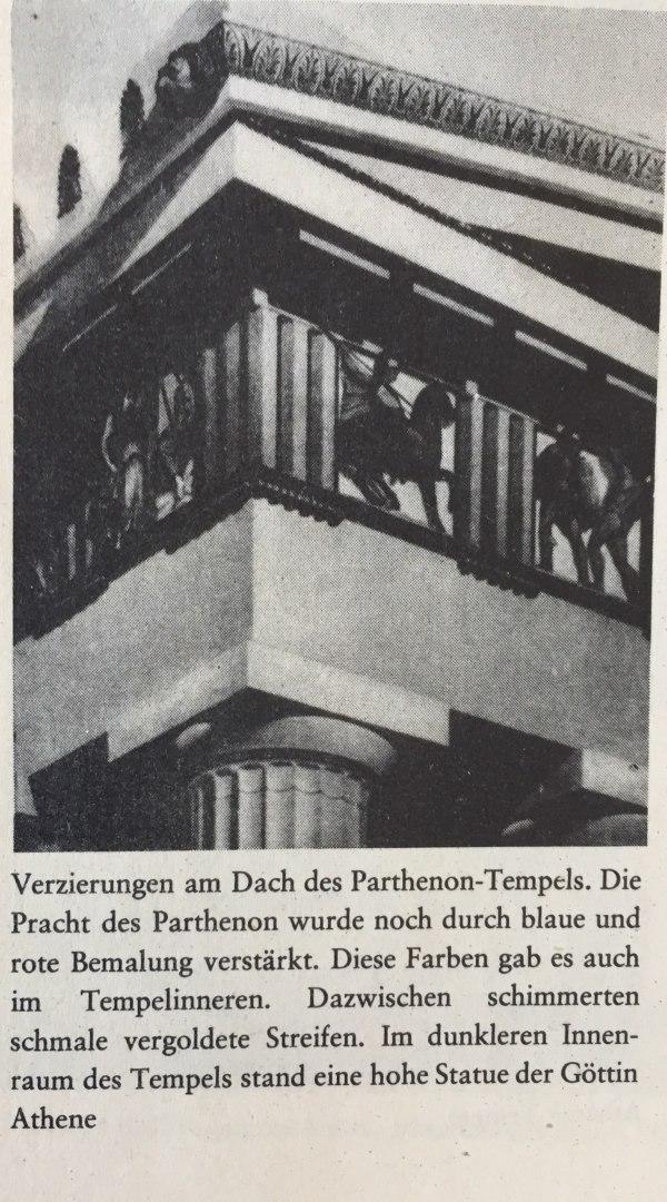 Verzierungen am Dach des Parthenon-Tempels