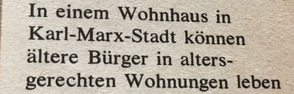 Bildbeschreibung altersgerechte Wohnungen DDR