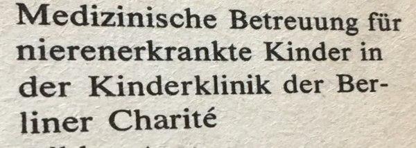 Bildbeschreibung Krankenhaus DDR