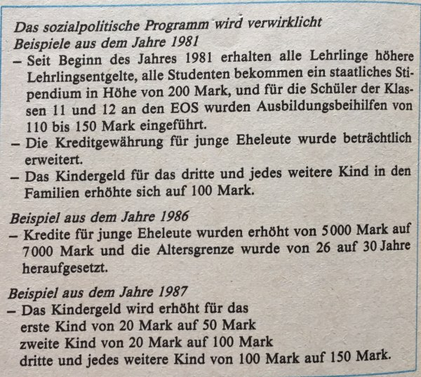Sozialpolitik DDR
