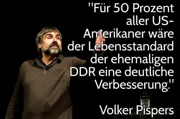 Volker Pispers Vergleich Lebensstandard USA DDR