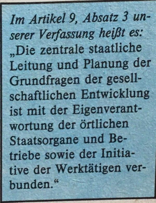 Artikel 9, Absatz 3 Verfassung DDR
