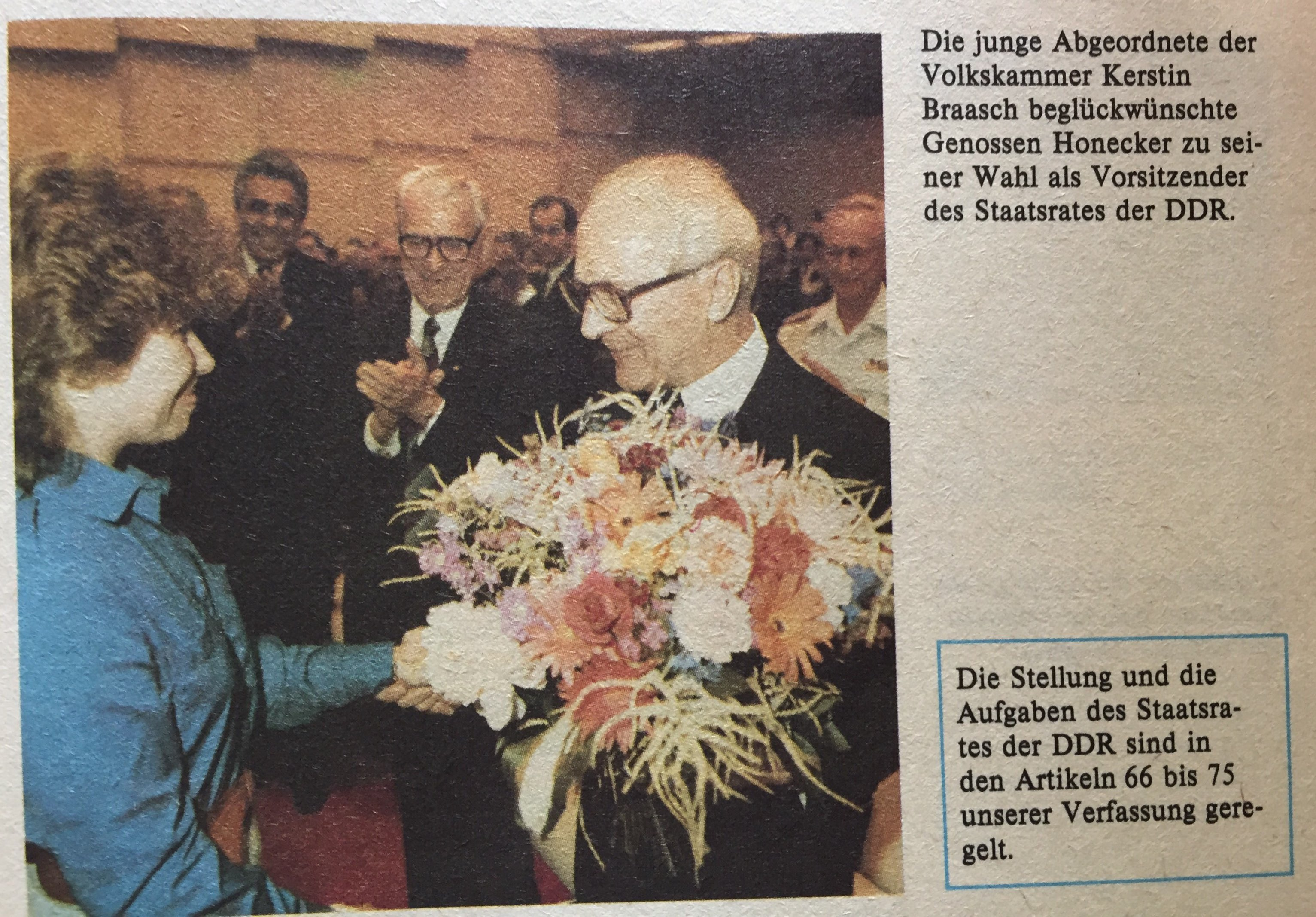 Glückwünsche an Honecker