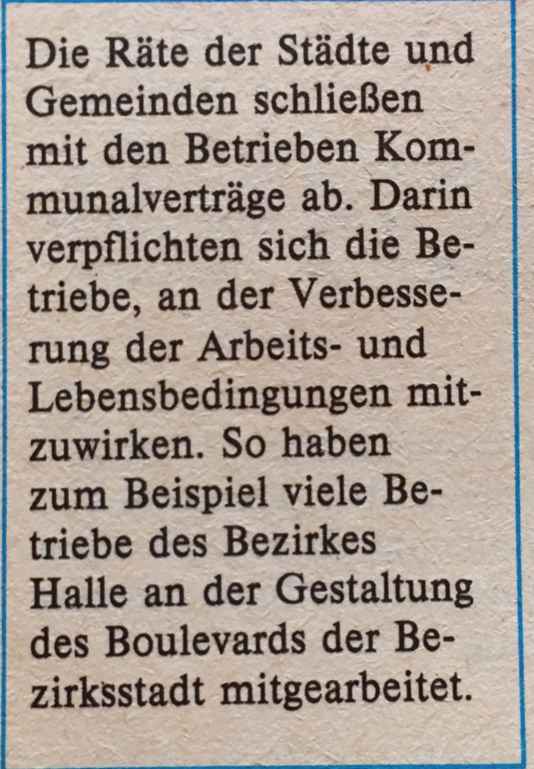 Kommunalverträge DDR