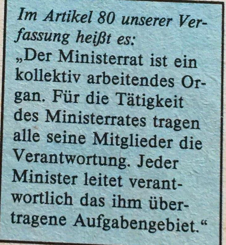 Verfassung zu Ministerrat