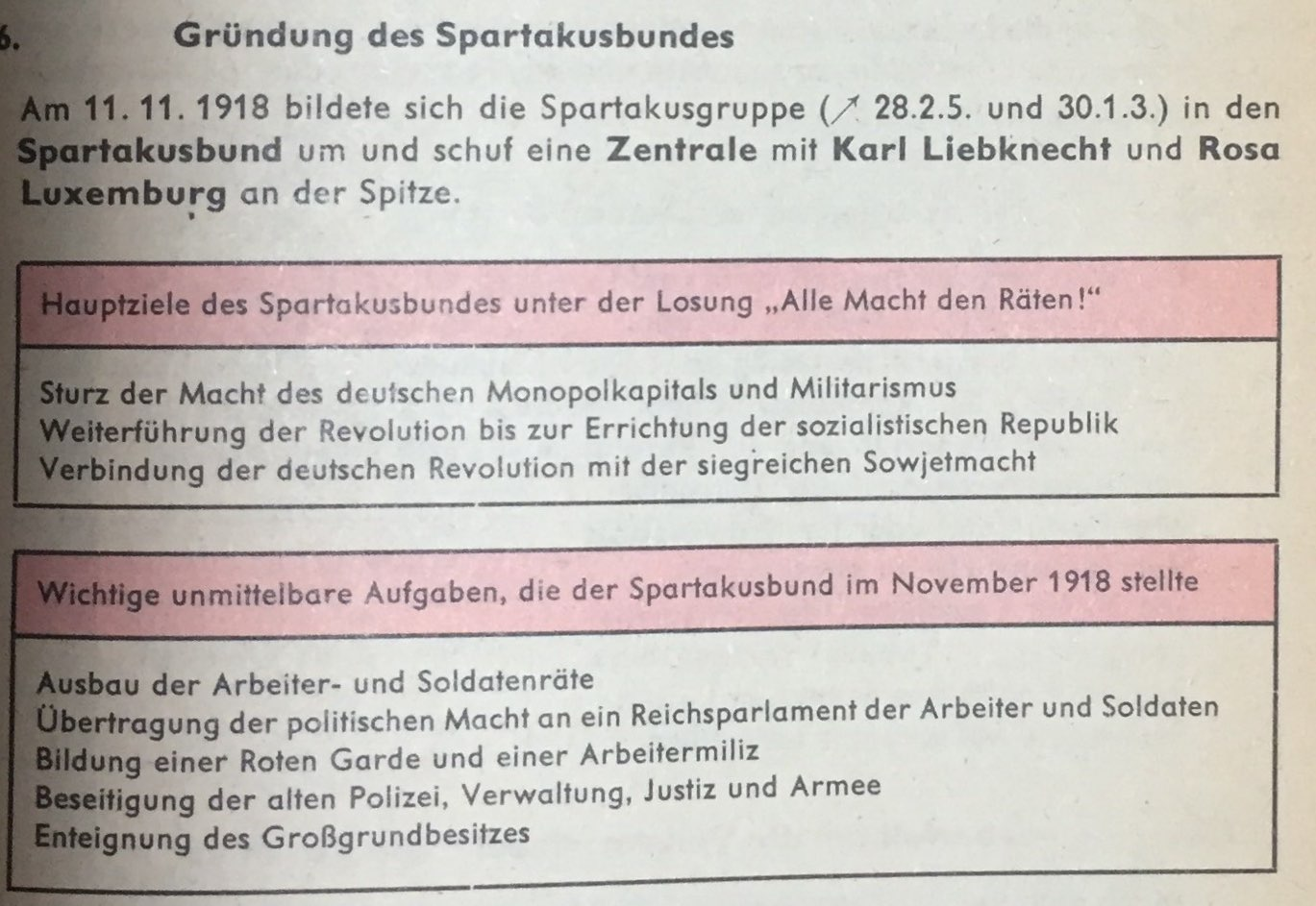 Antikriegsbewegung und Spartakusgruppe