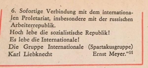 aufruf soartakusgruppe 8.11.1918 2