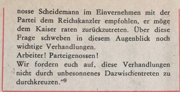 aufruf spd-vorstand 4.11.1918 2
