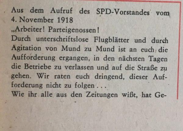 aufruf spd-vorstand 4.11.1918