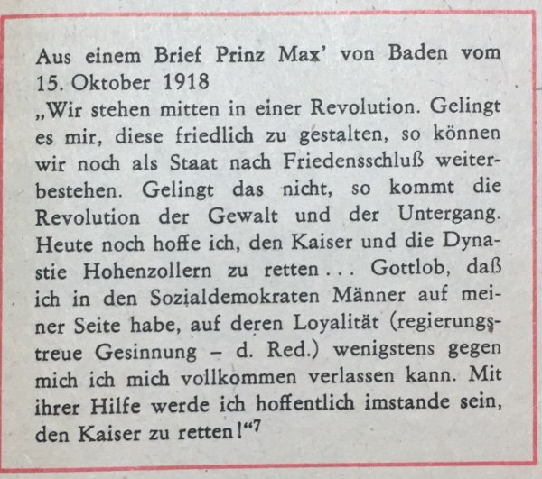 brief max von baden oktober 1918