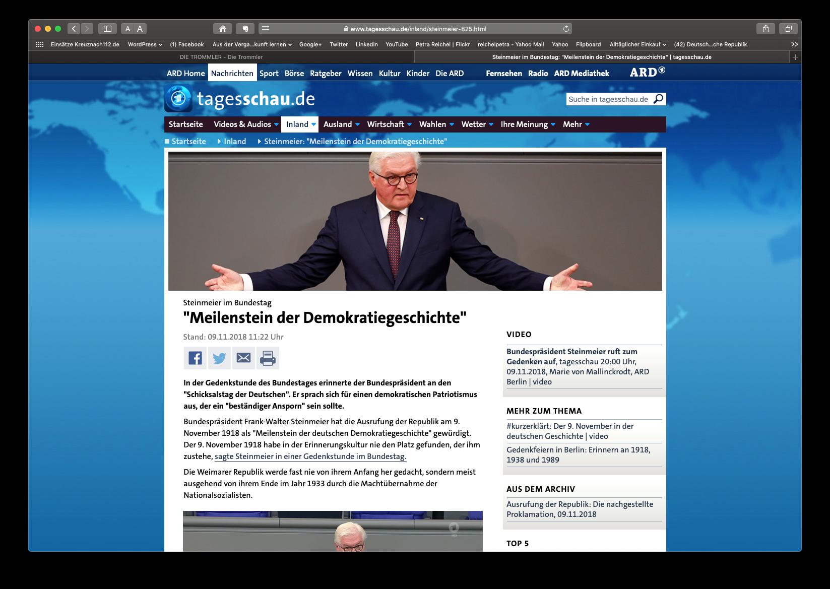Frank-Walter Steinmeier zum 100. Jahrestag der Novemberrevolution in Deutschland