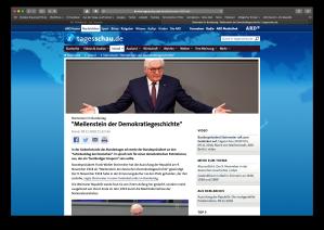 frank-walter steinmeier zu 100 jahre novemberrevolution in deutschalnd !918:19