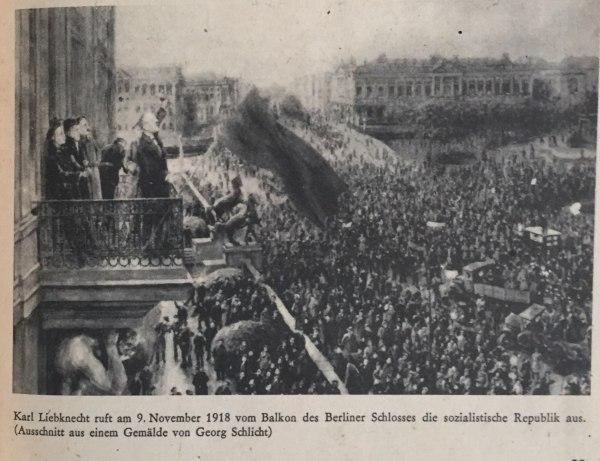karl liebknecht ruft 9.11.1918 sozialistische republik aus