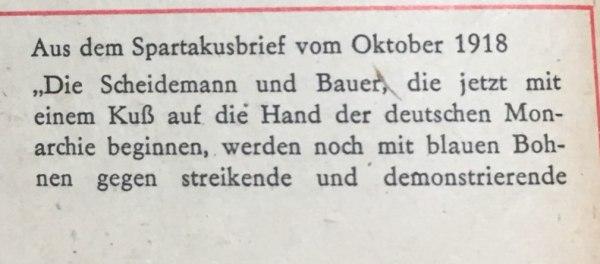 spartakusbrief oktober 1918