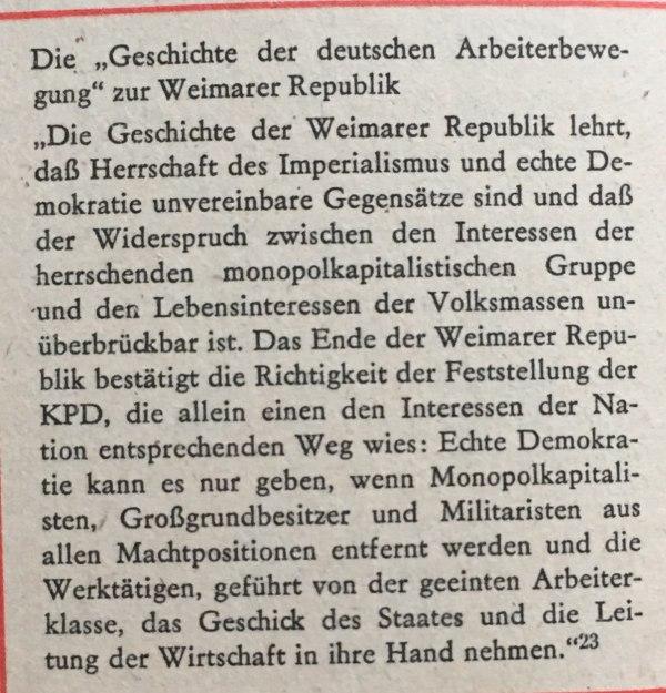 Arbeiterbewegung zu Weimarer Republik