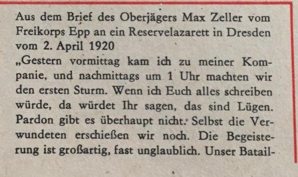 Aus Brief von Max Zeller