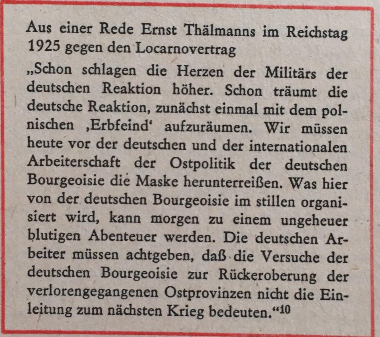 Ausschnitt Rede Ernst Thälmann im Reichstag 1925