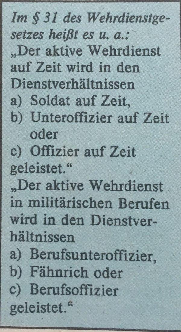Auszug Wehrdienstgesetz DDR