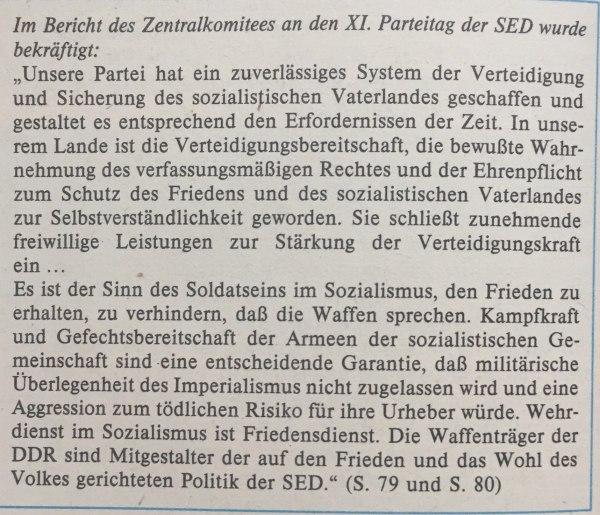 Bericht ZK der SED an XI. Parteitag