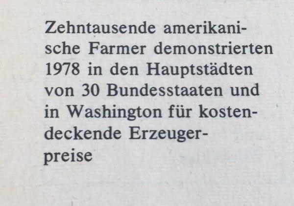 Beschreibung Farmer-Demo USA 1978