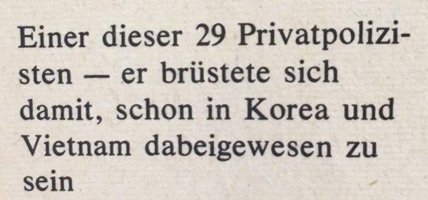 Beschreibung Privatpolizist