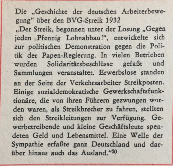 BVG-Streik 1932