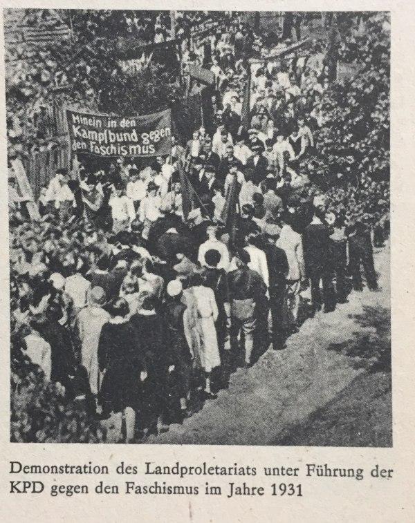 Demo gegen Faschismus 1931