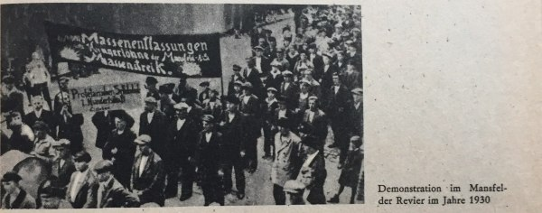 Demo im Mansfelder Revier