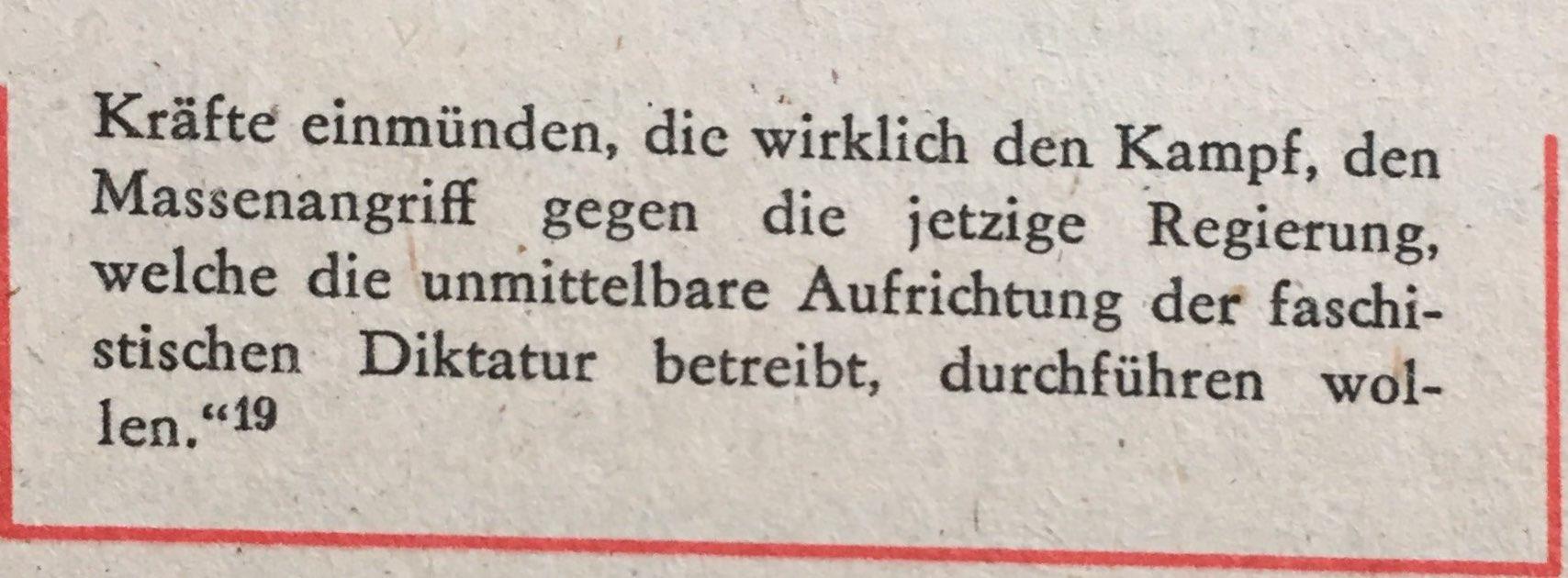 Ernst Thälmann antifaschistische Aktion 2