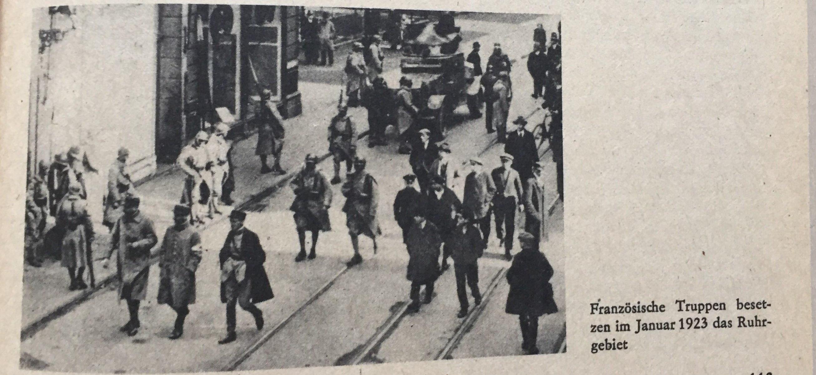 Franzosen besetzen Ruhrgebiet