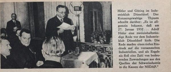 Hitler und Göring im Industrieclub Düsseldorf