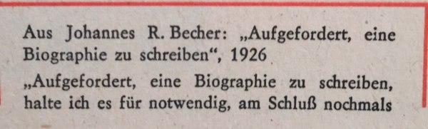 Johannes R. Becher Biografie 1