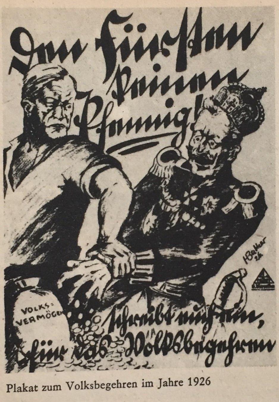Plakat Volksbegehren 1926