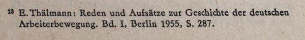 Quellenangabe Ernst Thälmann Reichstag 1925