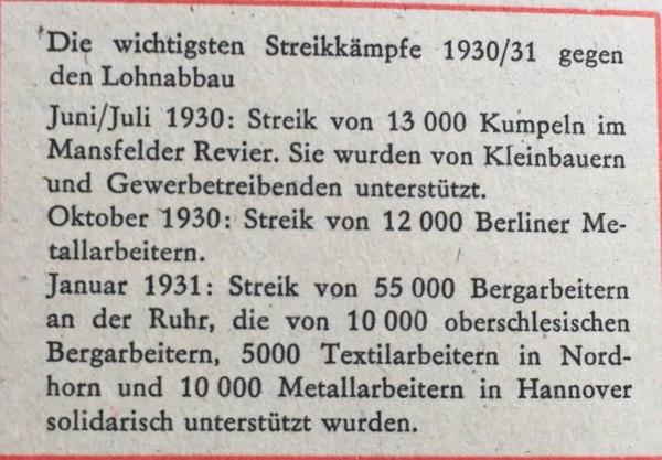 Streiks 1930-31