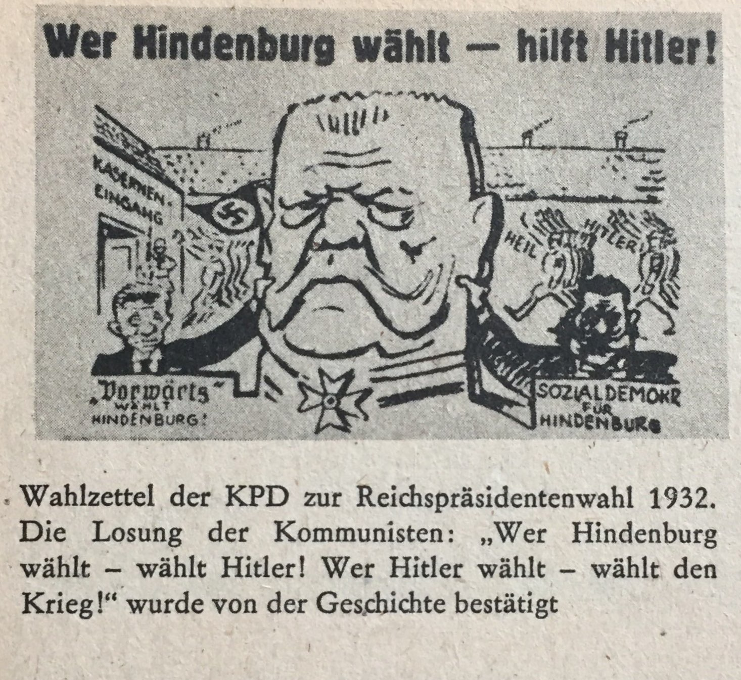 Wahlzettel KPD 1932