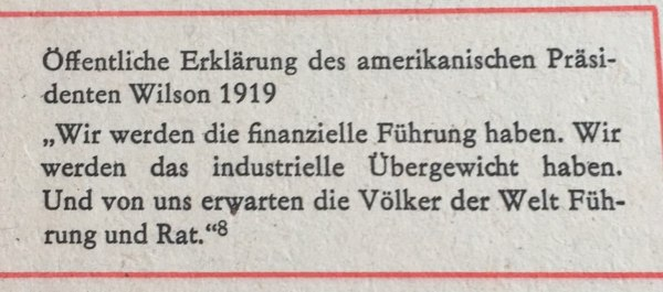 Erklärung US-Präsident Wilson 1919