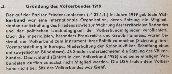 Gründung Völkerbund 1919
