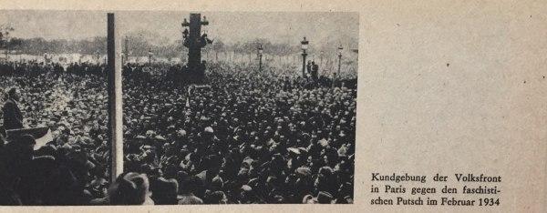 Kundgebung Volksfront Paris 1934
