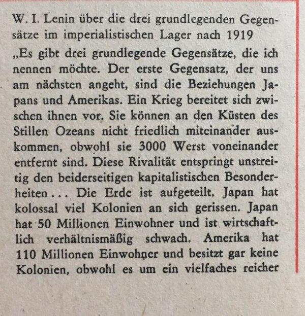 Lenin 3 grundlegende Gegensätze