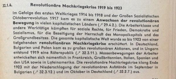 Revolutionäre Nachkriegskrise 1919 bis 1923