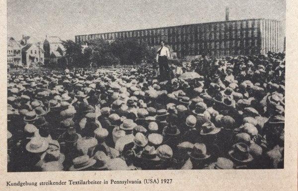 Streik Textilarbeiter Pennsylvania