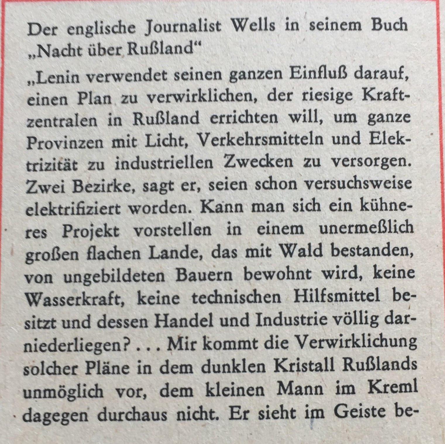 aus Buch von Wells