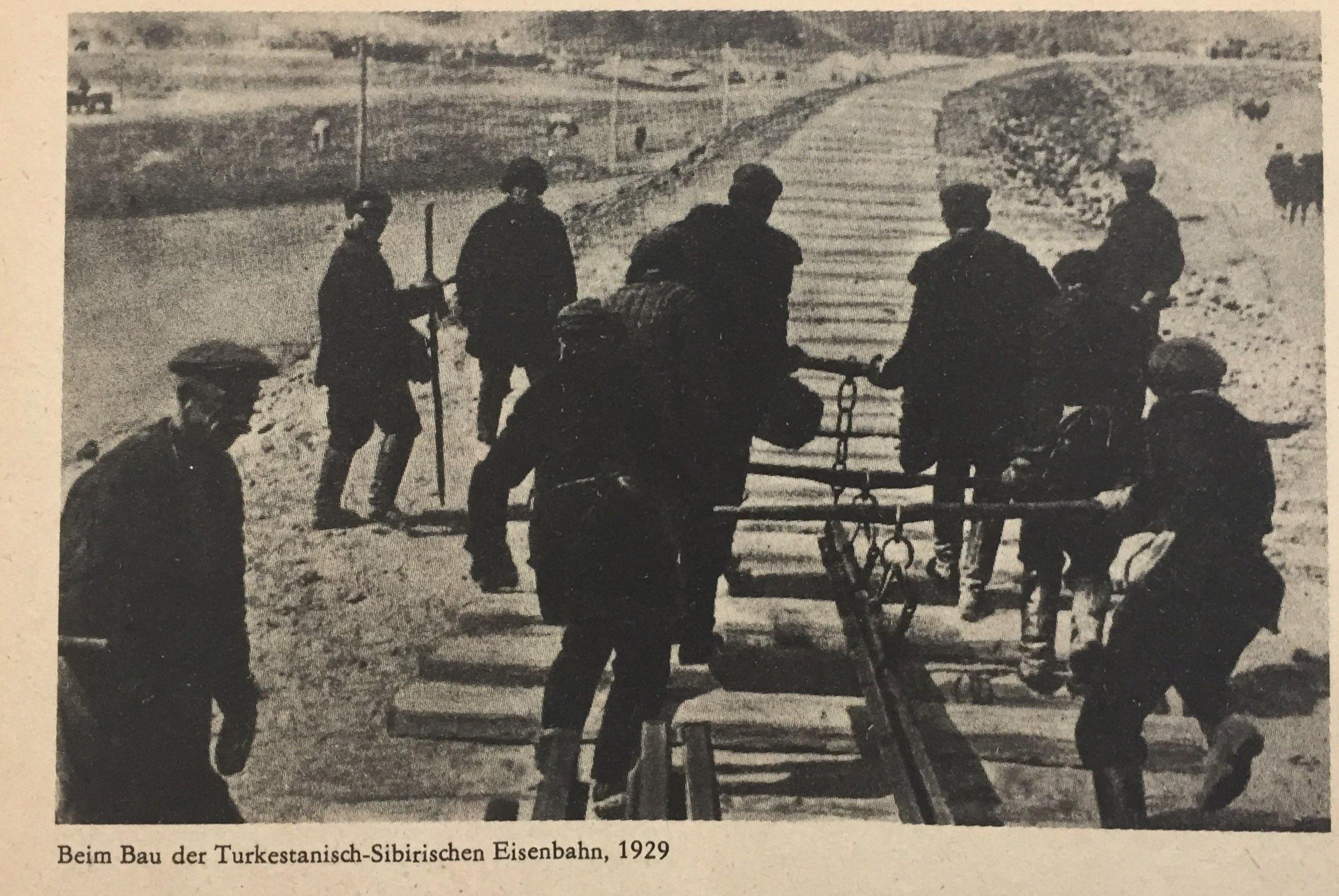 Bau Turkestanisch-Sibirische Eisenbahn