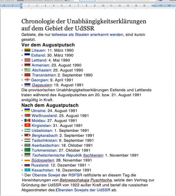 Chronologie Zerfall Sowjetunion 2